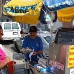 Hot dog vendor on Graham Ave