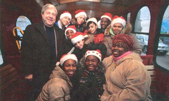 Holiday Trolley, Borough President Marty Markowitz