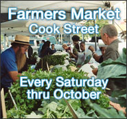 Farmer's Market on Cook Street Every Saturday through October